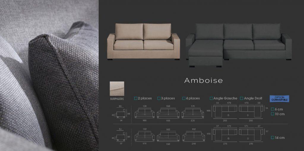 Canapé modèle Amboise La Bulle Verte