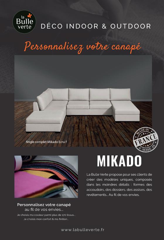 Canapé d'angle ecru Mikado La Bulle Verte