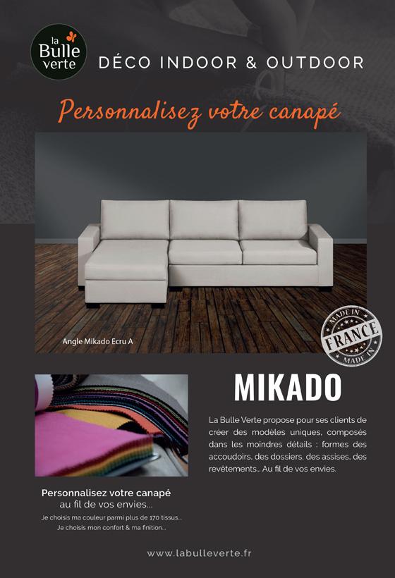 Canapé d'angle Mikado La Bulle Verte
