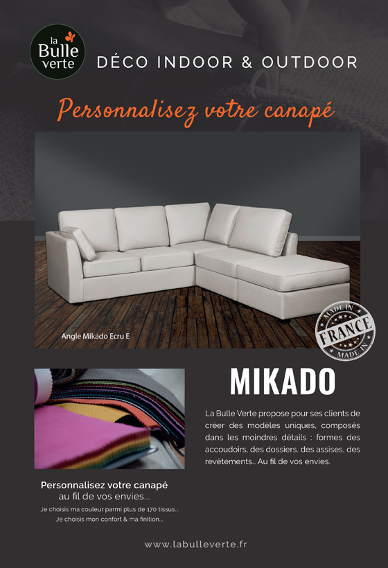 Canapé Mikado La Bulle Verte