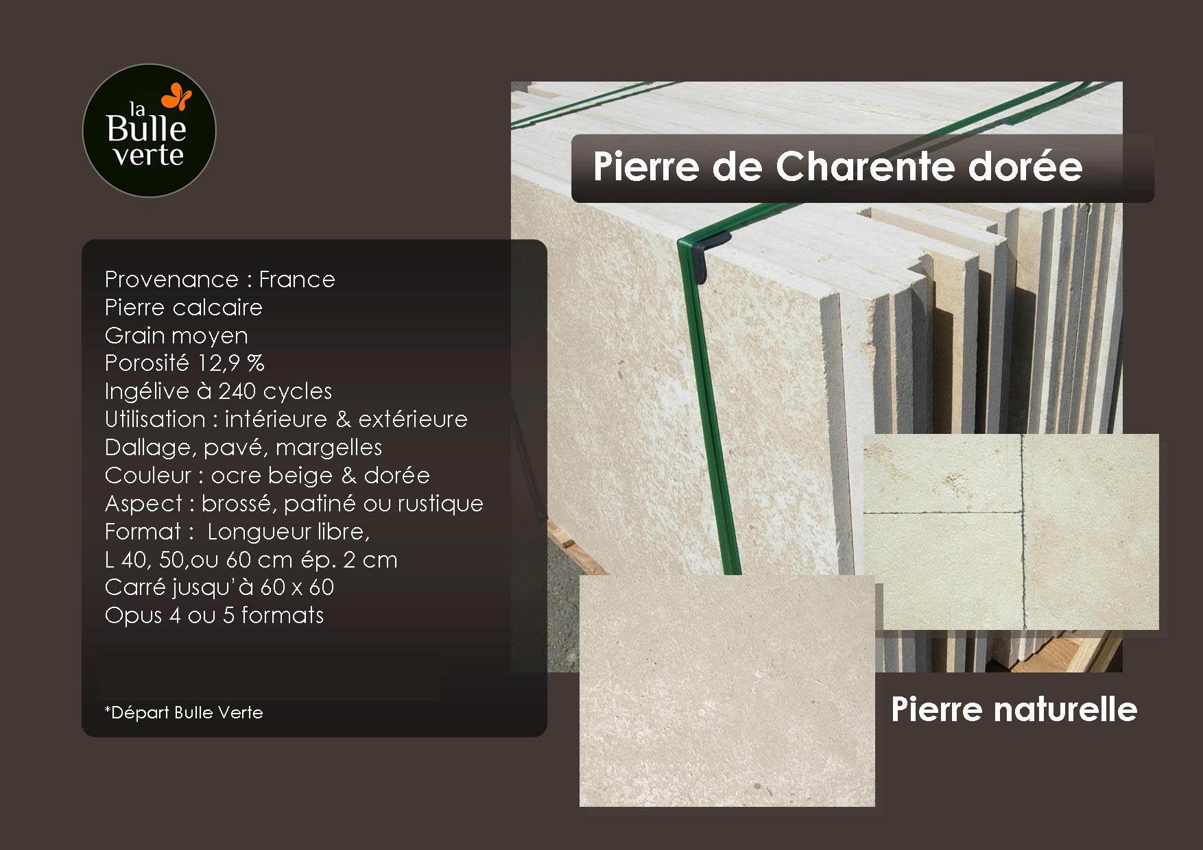 Pierre de Charente dorée - pierre naturelle - La Bulle Verte