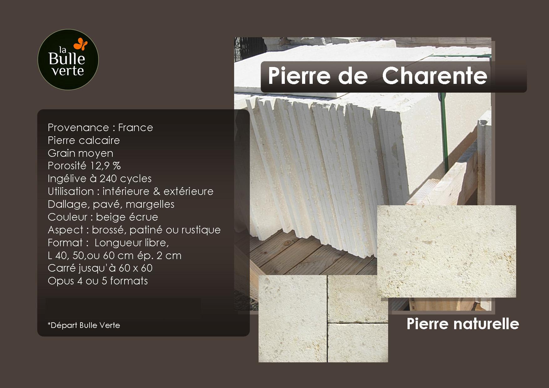 Pierre de Charente - pierre naturelle - La Bulle Verte